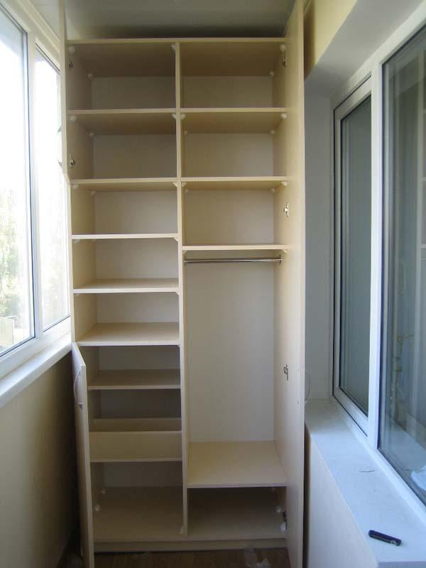 Шкаф мебель на лоджию балкон. - наши работы - каталог статей.